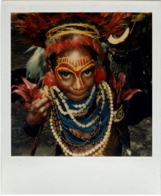 One of David Bailey's Papua Polaroids