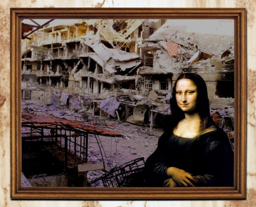 Azzam's Mona Lisa as part of his 'Syrian Museum'