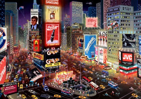 A view of Times Square- the advertising hub of America