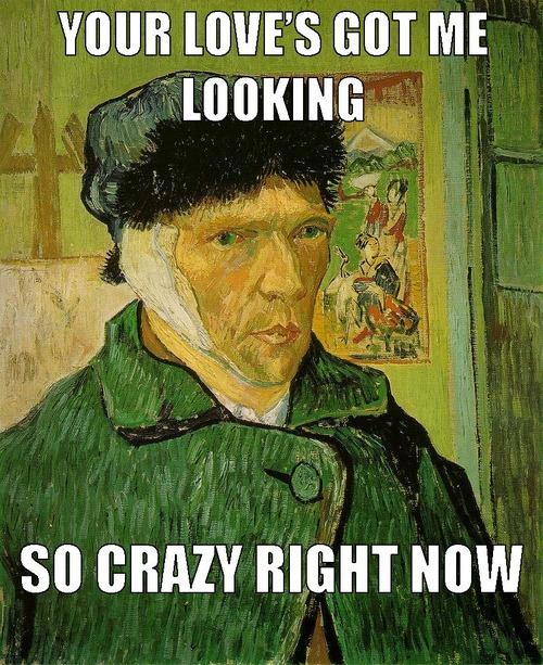 "Van Gogh, ""Self-Portrait With a Bandaged Ear""/Beyonce, ""Crazy in Love"""