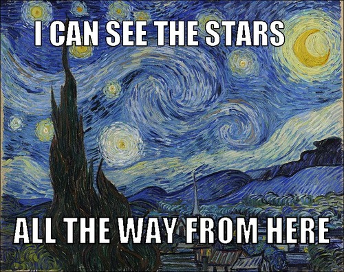 "Vincent van Gogh, ""The Starry Night""/ Beyonce, ""Love on Top"""