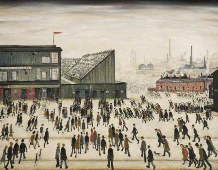 Going to the Match by Lawrence Stephen Lowry
