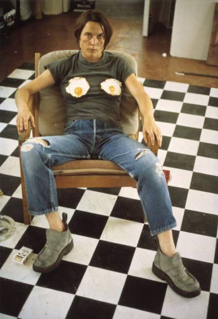 Self Portrait with Fried Eggs by Sarah Lucas