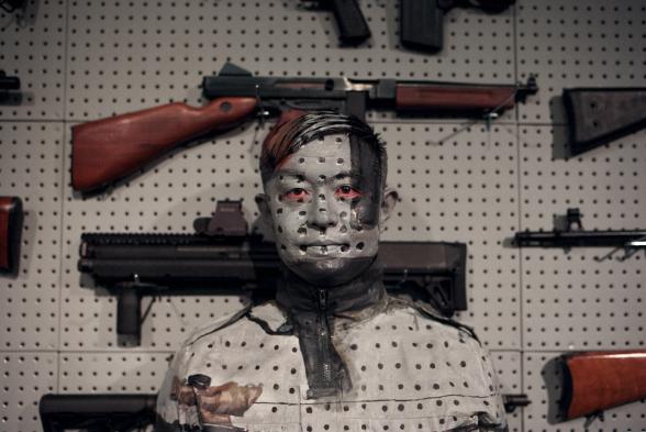 Liu Bolin, Chinese Contemporary Artist, Hiding in New York, Zachary Bako