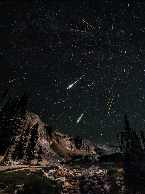 'Snowy Range Perseid Meteor Shower' by US photographer David Kingham
