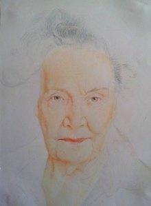 Work in progress by artist Ellie Fisher